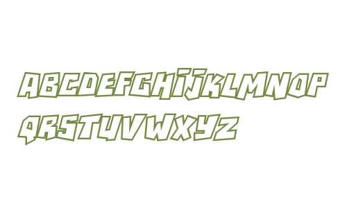 RockBiterOutlines Italic