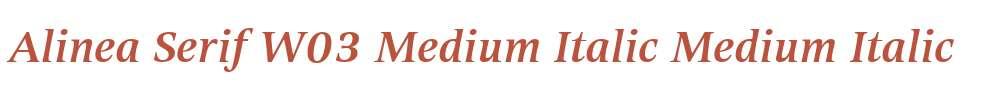 Alinea Serif W03 Medium Italic