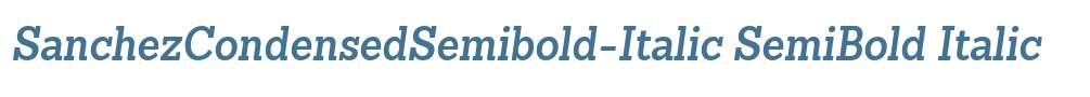 SanchezCondensedSemibold-Italic