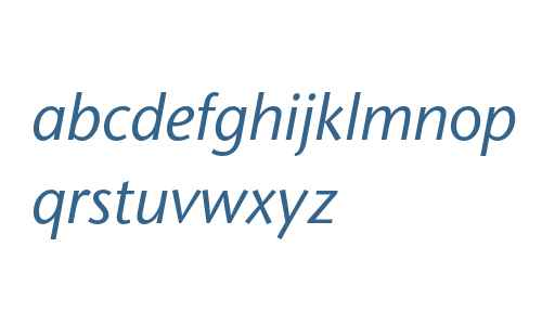 ITC Stone Sans LT Italic