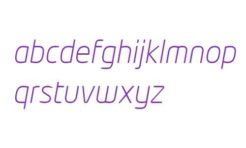 Neo Tech W04 Light Italic