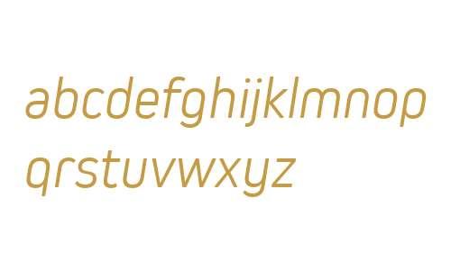 Kiro W03 Light Italic