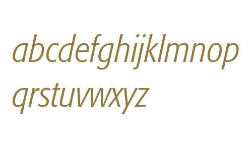 Formata-LightCondensedItalic