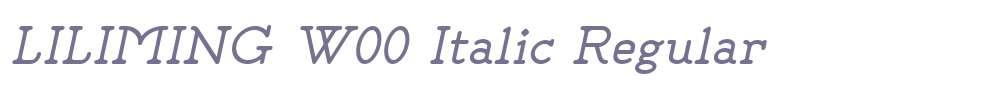LILIMING W00 Italic