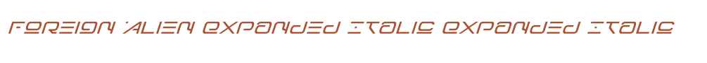 Foreign Alien Expanded Italic