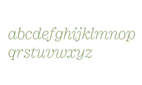 Minotaur Web Light Italic