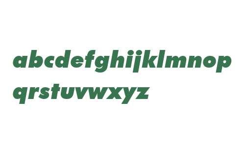 FuturaBT W02 ExtraBlack Italic