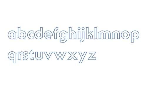 Serif Gothic Outline