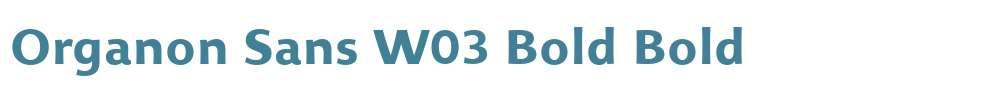 Organon Sans W03 Bold