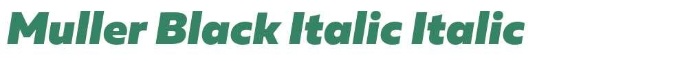 Muller Black Italic