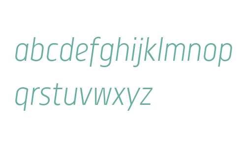 Centima W01 Light Italic