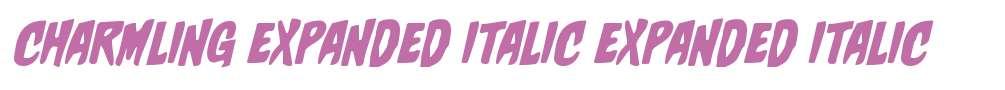Charmling Expanded Italic