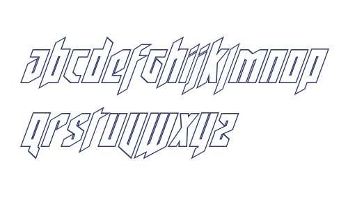 Deathshead Outline Italic