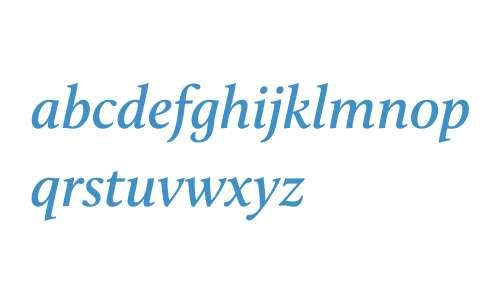 Calluna W03 Semibold Italic