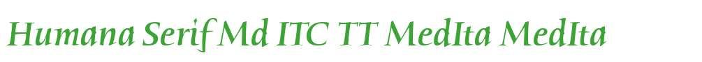 Humana Serif Md ITC TT MedIta