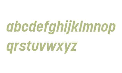 Korolev W04 Bold Italic