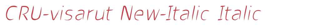 CRU-visarut New-Italic