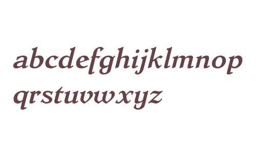 Dutch Mediaeval W02 Bd Italic