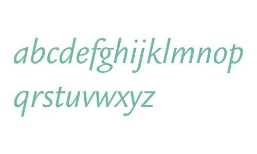 Legacy Sans ITC Book Italic
