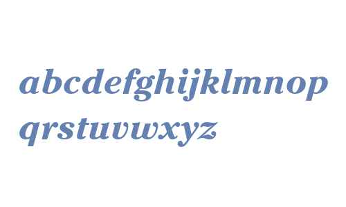 Cheltenham ITC W04 Bold Italic