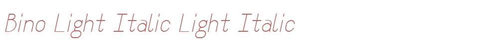 Bino Light Italic