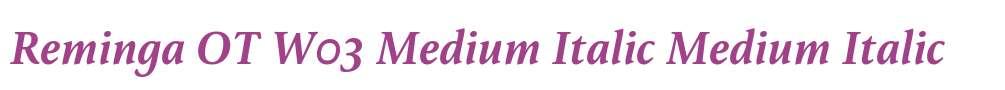 Reminga OT W03 Medium Italic