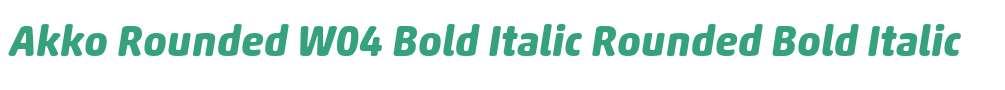 Akko Rounded W04 Bold Italic