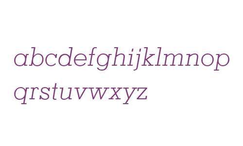 Memphis LT W04 Light Italic