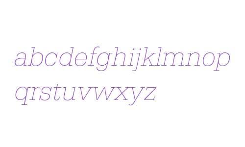 Serifa Thin Italic