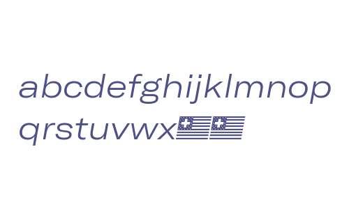 GT America Extended Light Italic