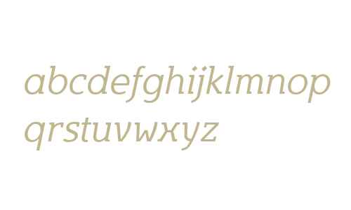 Egon W01 Light Italic