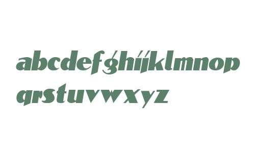 BlockCalligraphyCondensed  Italic