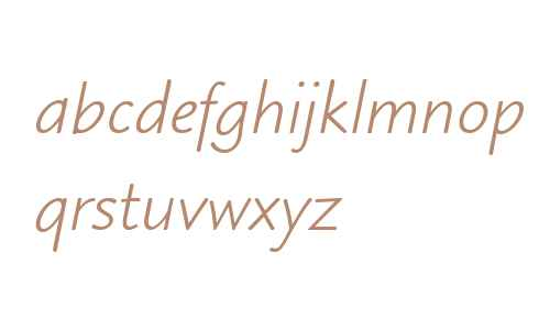 Blueprint MT W04 Italic
