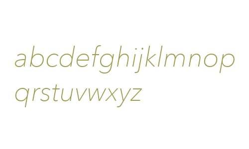 Avenir Next W06 Thin Italic