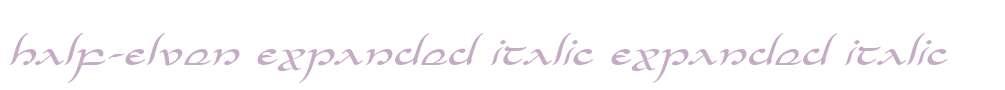 Half-Elven Expanded Italic