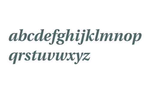 Utopia Bold Italic with Oldstyle Figures