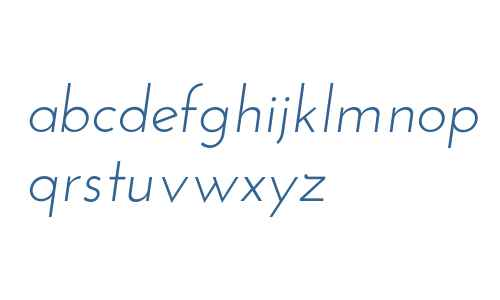 Josefin Sans Italic