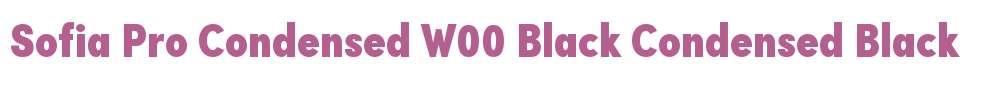 Sofia Pro Condensed W00 Black