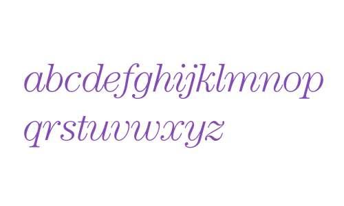 Century* ITC Light Italic