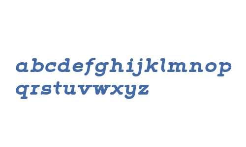 Grover Slab W01 Bold Italic