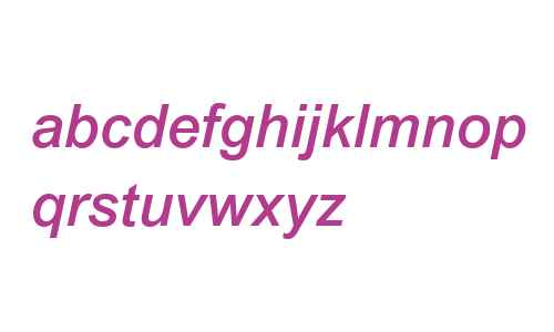 Arial MT W04 Medium Italic