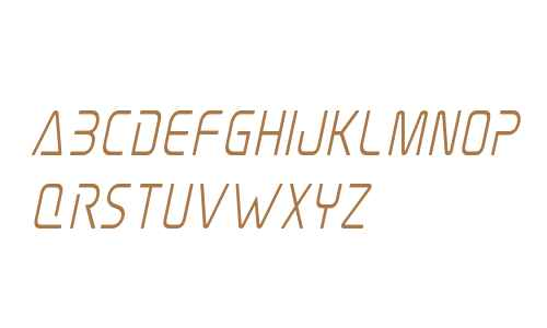 Elite Danger Semi-Bold Condensed Italic