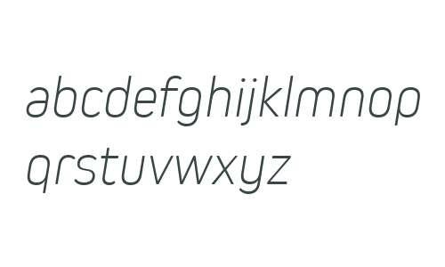 Kiro W03 ExtraLight Italic