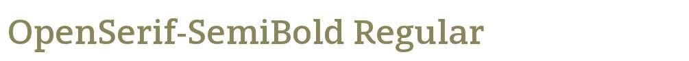 OpenSerif-SemiBold