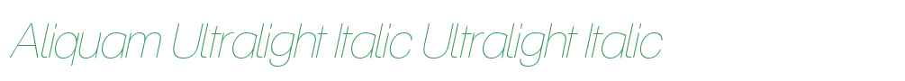 Aliquam Ultralight Italic