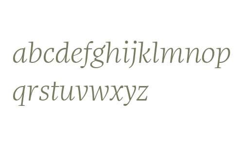 More Offc W00 Light Italic