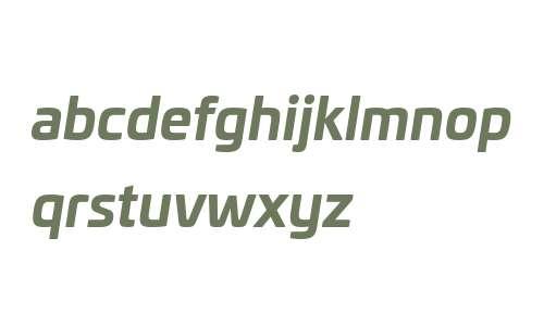 Univia W03 Bold Italic