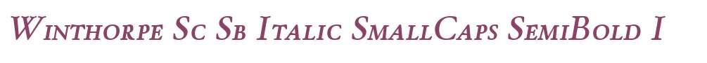 Winthorpe Sc Sb Italic