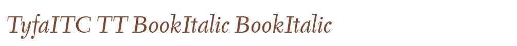 TyfaITC TT BookItalic