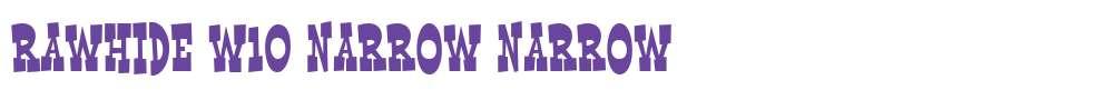 Rawhide W10 Narrow